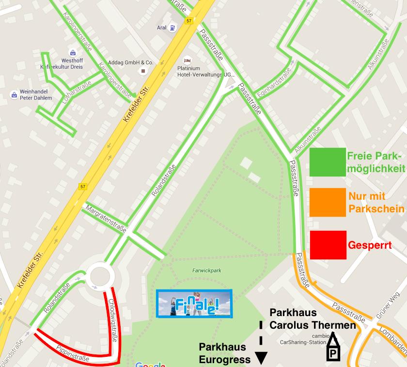 SiP Finale - Parkmöglichkeiten